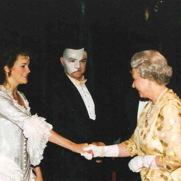 Zoe Curlett Soprano and HRH Queen Elizabeth